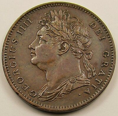 KING GEORGE IIII  FARTHING COIN dated 1825 - HIGH GRADE