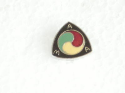 AMERICAN MOTOR CYCLE  ASS. COLLECTABLE PIN BADGE 7/8 in  HARD FIRED PORCELAIN