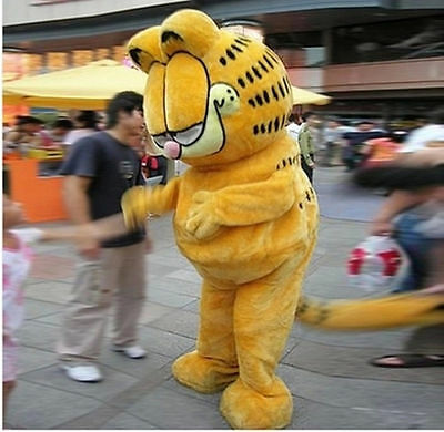Hot Sale Garfield Cat Mascot Costume Fancy Party Dress Adult Halloween Cosplay