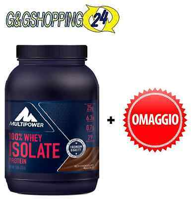 Multipower 100% Whey Isolate 725 gr Proteine del Latte Isolate + Omaggi