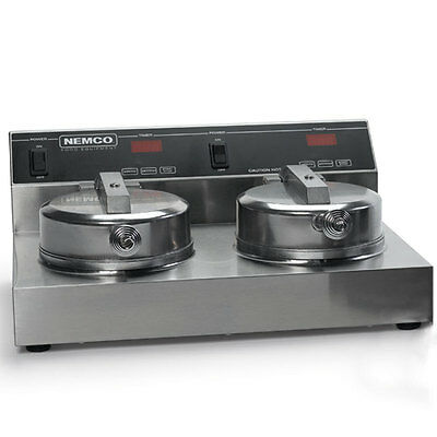 Nemco Counter Top Dual Waffle Baker Iron 7In Grid 240V - 7000A-2240
