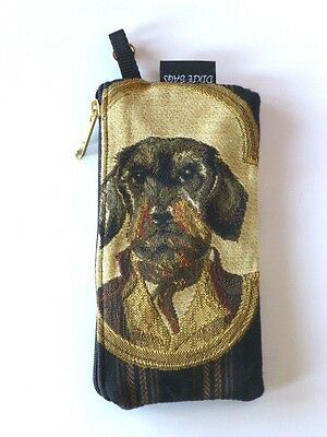 "Irish Wolfhound Quality Tapestry Top Zip 7 1/2"" x 4"" Wallet / Make-Up Case, USA"
