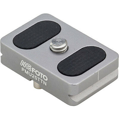 MeFOTO Camera Quick Release Plate for BackPacker Air Tripods, Titanium