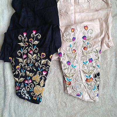 Pakistani /indian Designers Tulip Embroidered  Trousers