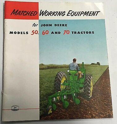 1955 John Deere Matched Working Equipment For 50 60 70 Tractor Dealers Brochure