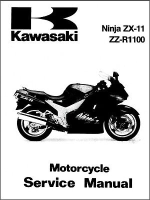 93-01 Kawasaki Ninja ZX-11 / ZZ-R1100 Service Repair Manual CD -  ZZR1100 ZX1100