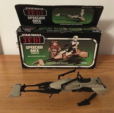 Vintage Star Wars Speeder Bike ROTJ 1983 Kenner Macau Original Box Free Postage
