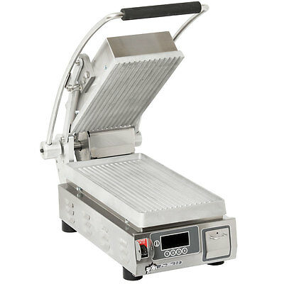 "Star PGT7E Pro-Max 9.5"" Panini Grill Grooved Aluminum Plate w/ Timer"