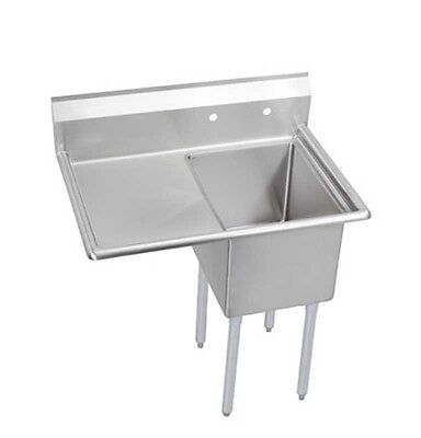 "Elkay Foodservice 1 Compartment Sink 24""x24""x12"" Bowl 16/300 Ss 24"" Drainboard -"