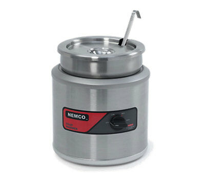 Nemco 6100A-ICL 7 Quart Round Soup Chili Warmer with Inset, Cover, & Ladle
