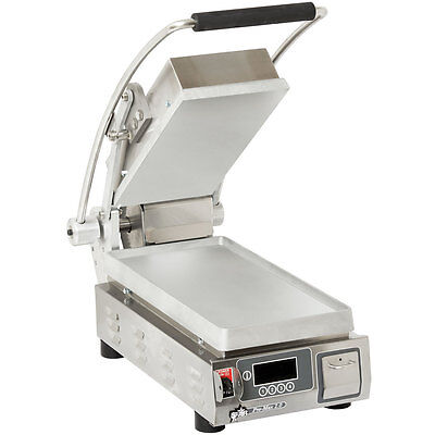 """Star PST7E Pro-Max 9.5"""" Panini Grill Smooth Aluminum Plate w/ Timer"""