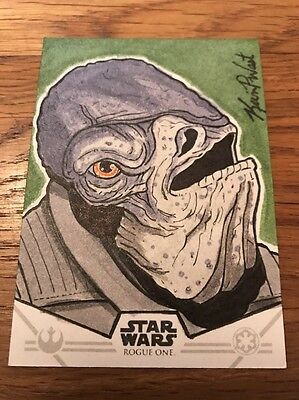 Star Wars Rogue One Series 1 Kevin P West Sketch Card