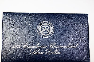1973-S Uncirculated 40% Silver Eisenhower IKE Dollar Coin Mint Packaging UNC