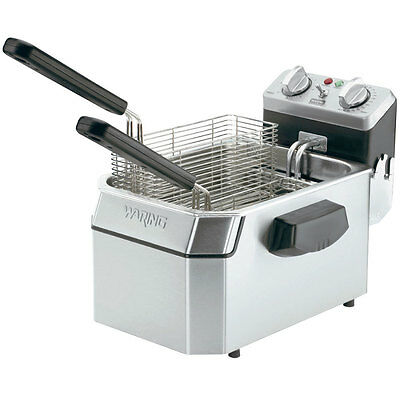 Waring 10Lb Electric Countertop Fryer Stainless W/ Timer 120V - Wdf1000