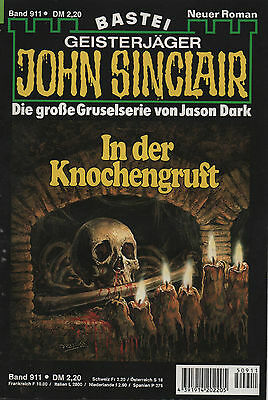 JOHN SINCLAIR ROMAN Nr. 911 - In der Knochengruft - Jason Dark - 1. Auflage