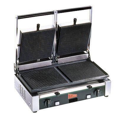 GMCW TSG2G Cecilware Double Grooved Panini Grill