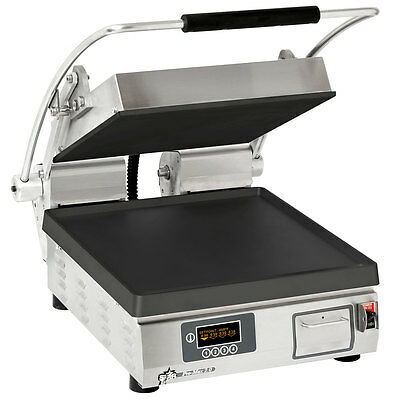 "Star PST14IE Pro-Max Panini Grill Smooth Iron Plates Single 10-3/8"" x 23"""