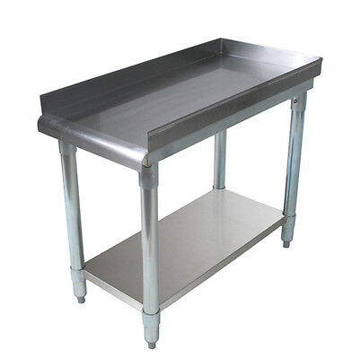 "BK Resources 16x30"" Stainless Steel Equip Stand with undershelf & riser"