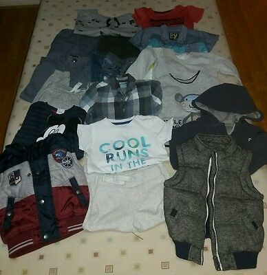 Large bundle of boys clothes 9-24 Months