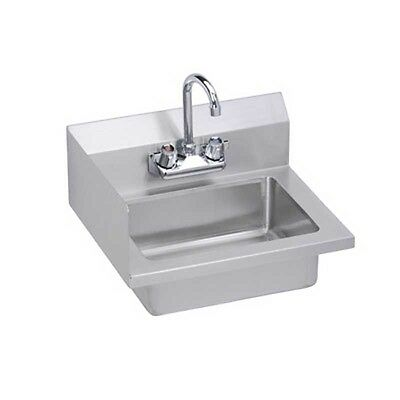 "Elkay Foodservice 18"" Economy Hand Sink Wall Mt w/ Faucet & Side Splash Option"