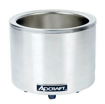 Adcraft FW-1200WR 7 / 11 Qt. Countertop Round Food Warmer / Cooker