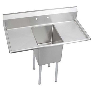 """Elkay Foodservice 1 Comp Sink 16""""x20""""x14"""" Bowl 16/300 S/s Two 18"""" Drainboards"""