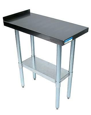"BK Resources Commercial Kitchen Stainless Filler Prep Table 15""W x 30""D"