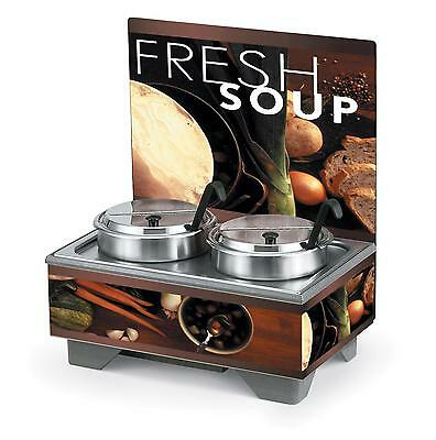 Vollrath 72020210* Countertop Soup Merch with 7 Qt Accessory Pack Menu Board