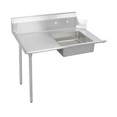 "Elkay Foodservice 48"" Soiled Dishtable 16/300 S/s Straight W/ Galvanized Legs -"