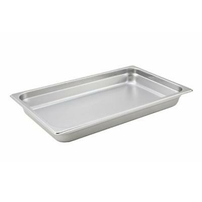 "Winco SPJH-102 S/s 2-1/2"" Deep Steam Table Pan Full Size Heavy Weight"