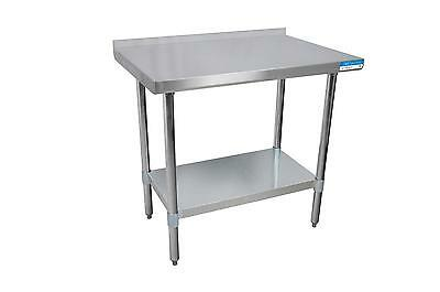 BK Resources VTTR-2424 24x24 Work Prep Table Stainless Top w/ 1.5in Backsplash