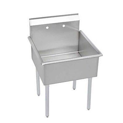 """Elkay Foodservice 1 Compartment Utility Sink 24"""" X 24"""" X 12"""" Bowl 18/300 S/s - B"""