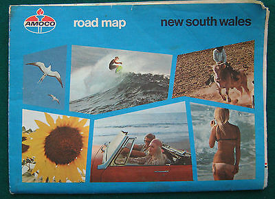 AMOCO Road map New South Wales - 1960's