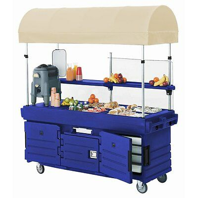 Cambro KVC854C186 (4) Pan Well CamKiosk Vending Merchandising Cart Navy Blue