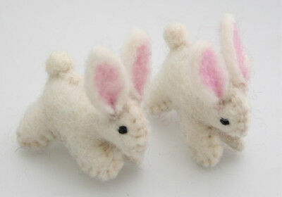 NEW Wool Felt Bunnies - Sustainable Eco-Friendly Wooden Kids Toys