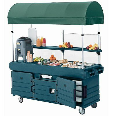 Cambro KVC854C192 (4) Pan Well CamKiosk Vending Merchandising Cart Green