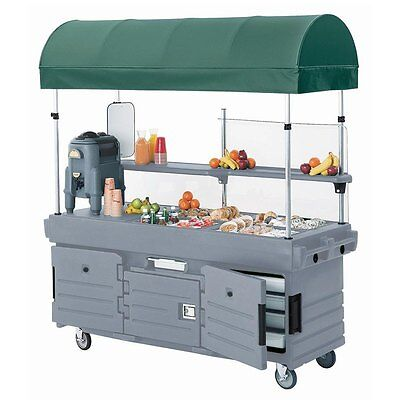 Cambro KVC854C191 (4) Pan Well CamKiosk Vending Merchandising Cart Gray