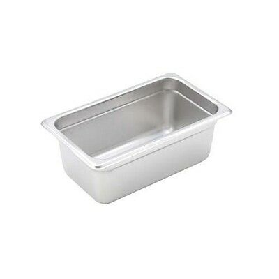 """Winco S/s Steam Table Pan 1/4 Size Heavy Weight 4"""" Deep - Spjh-404"""
