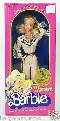 1980 Western Barbie She Gives You Her Autograph And A Wink Used