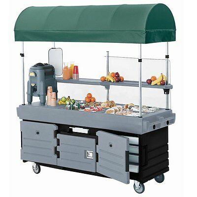 Cambro KVC854C426 4 Pan Well CamKiosk Vending Merchandising Cart Black & Gray