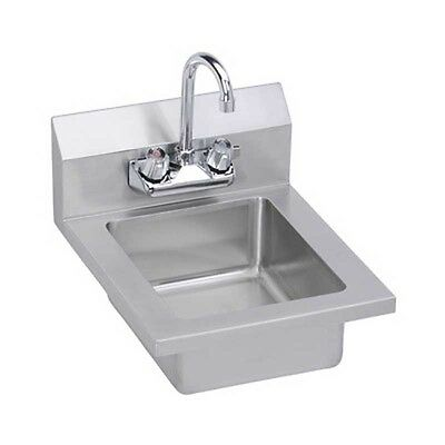 "Elkay Foodservice EHS-14X 14"" Economy Hand Sink Wall Mount with Gooseneck Faucet"