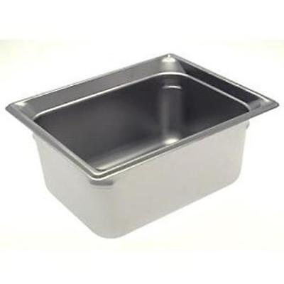 """Winco S/s Half Size Steam Table Pan Heavy Weight 6"""" Deep - Spjh-206"""