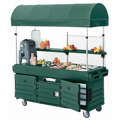 Cambro KVC854C519 4 Well CamKiosk Vending Merchandising Cart Kentucky Green