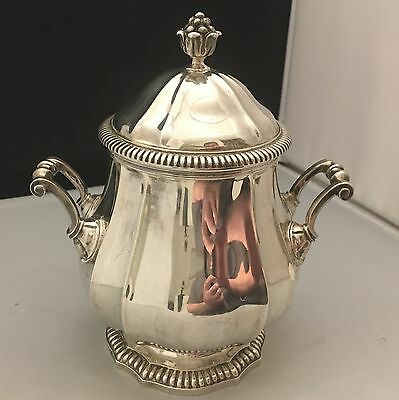 STUNNING Heavy 1920 Antique French Sterling Silver Cookie/Candy/Sugar Jar -L474