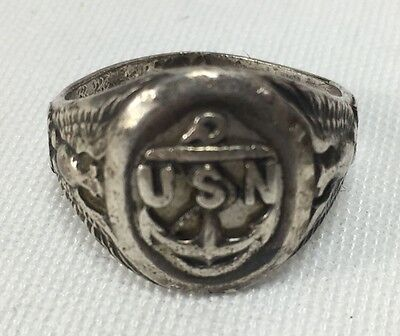 Vintage US Navy Chiefs Sterling Silver Ring