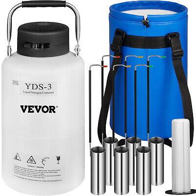 3L LIQUID NITROGEN  CONTAINER LN2 TANK DEWAR With Straps Cryogenic Biomedical