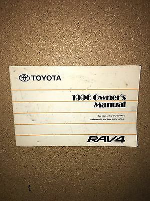 1996 Toyota Rav4 Owners Manual