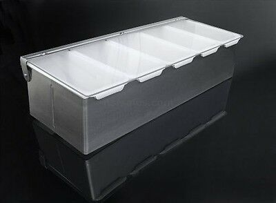 New Star 48032 Stainless Steel Condiment Dispenser with 5 Compartments