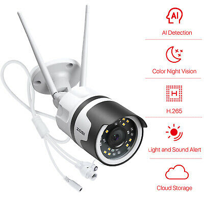 ZOSI 1080P Wireless IP Security Camera Home CCTV System HD Network WiFi 2.0MP
