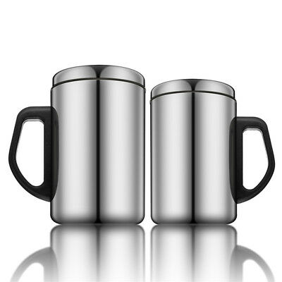 Thermal Travel Mug Stainless Steel Insulated Coffee Water Tea Cup 500ml&350ml
